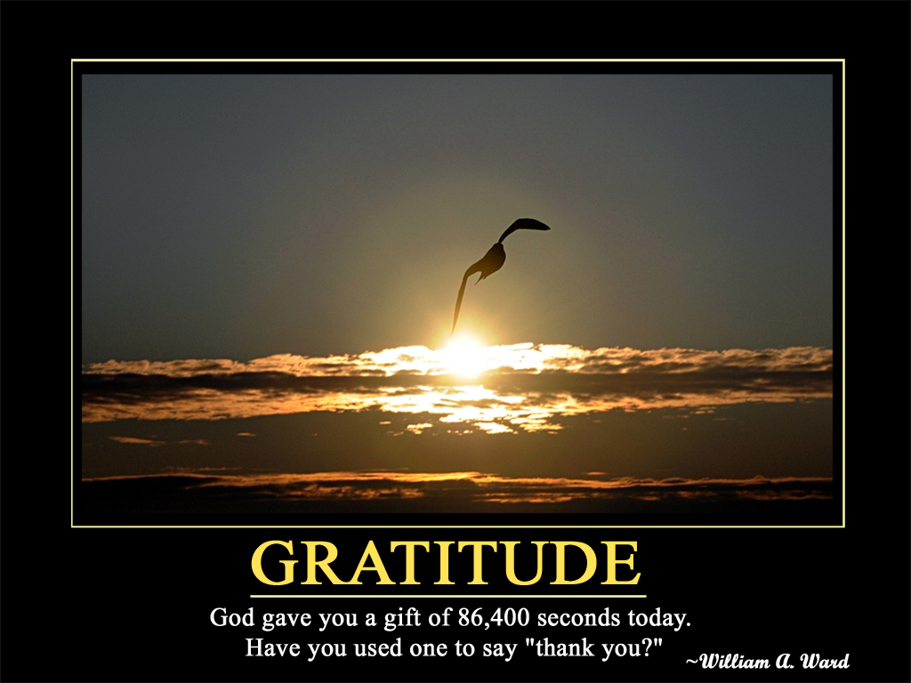 Download Gratitude Motivational Wallpaper: Standard: 1024 X 768 ...